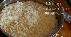 How to make cauliflower rice quickly and easily, and how to customize it for beautiful color and flavor.