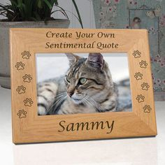 Personalized Create Your Own Custom Cat Memorial Frame | Unique Cat Lover Gifts | Cat Memorial Gifts Ideas | EtchedInMyHeart.com