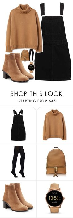 """""""Tan ❄"""" by lucy-wild on Polyvore featuring Wolford, Michael Kors, rag & bone and FOSSIL"""