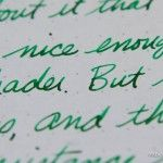 Ink review: Caran d'Ache Chromatics Vibrant Green