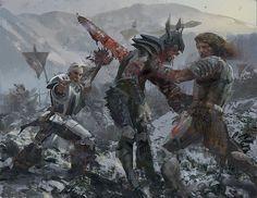 Fantasy Battle, Fantasy Rpg, Medieval Fantasy, Fantasy Artwork, Fantasy World, Dark Fantasy, Character Portraits, Character Art, Character Design