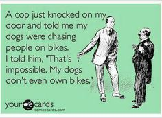 hahahaha, my dog doesn't own a bike either lol