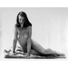 Portrait of nude young woman sitting on blanket Canvas Art - (18 x 24)
