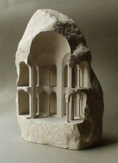 Stone Sculptures Reveal Monumental Architecture at a Micro Scale,Tetraconch (Limestone, 2015, 31cm tall). Image © Matthew Simmonds