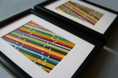 Paint Chip Art= love this! Could use any combo of colors to fit a room theme, from pastels for a nursery to the rustic colors for a bedroom or bright for a modern room...