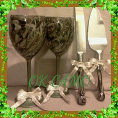 Wedding glass and Serving set. Several camo patterns to choose from (scheduled via http://www.tailwindapp.com?utm_source=pinterest&utm_medium=twpin&utm_content=post1498547&utm_campaign=scheduler_attribution)