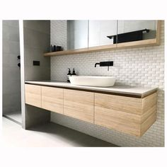New Images Modern Bathroom storage Tips As the cold-weather months loom forebodingly on the horizon, do it yourself in addition to style upg Contemporary Bathroom Designs, Bathroom Layout, Modern Bathroom Design, Bathroom Interior Design, Bathroom Ideas, Bathroom Inspo, Bathroom Images, Bathroom Colors, Bath Design