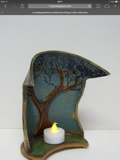 Ceramic tree shrine