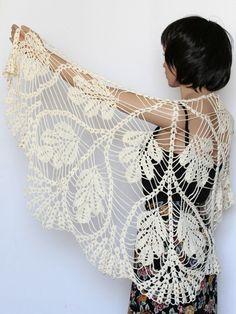 Shawl Pattern Crocheted Leaf Shawl Pattern Crochet von etty2504