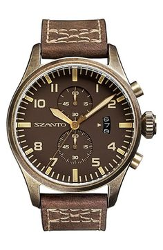 Szanto Leather Strap Watch, 44mm available at #Nordstrom