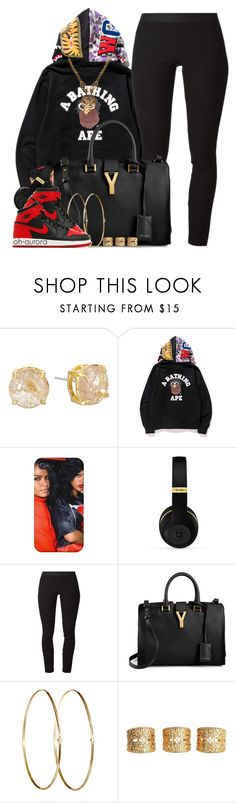 """""""Cla$$ic"""" by oh-aurora ❤ liked on Polyvore featuring Vince Camuto, A BATHING APE, Helmut Lang, Yves Saint Laurent, Jennifer Meyer Jewelry, NIKE, ASOS and Versace"""