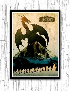 The Hobbit Minimalist Movie Poster by moonposter on Etsy