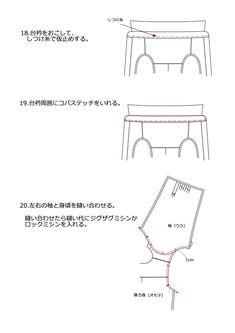 レディースシャツ・ブラウスの無料型紙と作り方 | ヘルカ + ハンドメイド Shirt Blouses, Chart