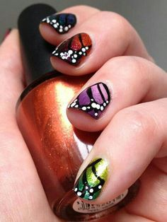 Here comes the spring! with ombre butterflies...