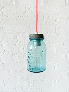 Vintage Mason Ball Jar Pendant Light