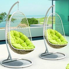 ENCOUNTER SWING OUTDOOR PATIO LOUNGE CHAIR Overall Product Dimensions: x x Dimensions: x x Dimensions: x x Height: Sift through the sands of silent contemplation with this fanciful outdoor swing chair. Encounter is your guide through periods of growth and Patio Lounge Chairs, Cool Chairs, Swing Chairs, Wicker Swing, Patio Bench, Patio Chair Cushions, Patio Table, Porch Swing With Stand, Outdoor Patio Swing