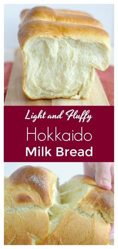 Hokkaido Milk Bread – Light and fluffy Japanese bread that is easy to make! This… Hokkaido Milk Bread – Light and fluffy Japanese bread that is easy to make! This milk bread is perfect for breakfast with a bit of butter! Bread Machine Recipes, Easy Bread Recipes, Baking Recipes, Baking Ideas, Quick Bread, Recipes With Old Bread, Breadmaker Bread Recipes, Italian Bread Recipes, Vegan Recipes