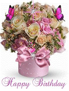 Birthday flowers bouquet beautiful roses mothers New Ideas Birthday Wishes Cake, Happy Birthday Messages, Happy Birthday Images, Happy Birthday Greetings, Happy Birthday Flowers Gif, Beautiful Roses, Beautiful Things, Happy Mothers Day, Mirror
