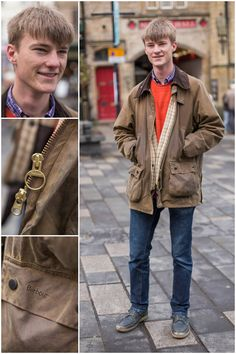 We spotted Rupert in Durham wearing his Barbour Wax Jacket - this was the 5th in his wardrobe!