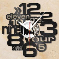 vinyl wall clock letter no.2 by Anantalo on Etsy, ฿1100.00