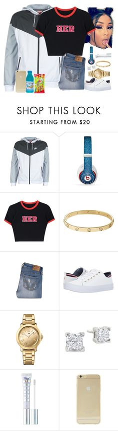"""""""Untitled #404"""" by princessaesthetic ❤ liked on Polyvore featuring NIKE, Beats by Dr. Dre, Cartier, Hollister Co., Tommy Hilfiger, MILK MAKEUP and Sonix"""
