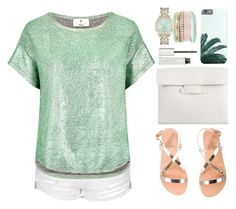 """""""OOTD - Mint"""" by by-jwp ❤ liked on Polyvore featuring Topshop, Ancient Greek Sandals, Essentiel, Jessica Carlyle, 3.1 Phillip Lim and Givenchy"""