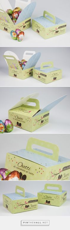 Easter egg packaging, an idea for your inspiration realised by the handle box template: easy to carry with an elegant shape. - created via https://pinthemall.net