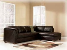 CONTEMPORARY LEATHER SECTIONAL!! - $1065 (FREE DELIVERY)