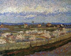 La Crau with Peach Trees in Blossom April 1889, Arles Oil on canvas, 65 x 81 cm Courtauld Gallery, London