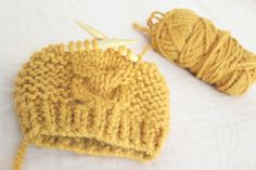 Knitted Cable toddler Hat Pattern
