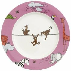 Villeroy & Boch Funny Zoo 22 cm Children Monkey Flat Plate: Amazon.fr: Cuisine & Maison