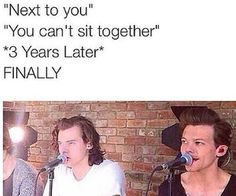 It makes me so happy that they can finally sit next to each other