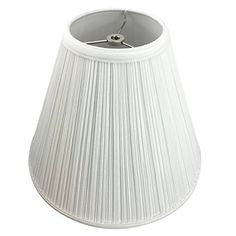 FenchelShadescom Lampshade 5 Top Diameter x 12 Bottom Diameter x 10 Slant Height with Washer Spider Attachment for Lamps with a Harp Pleated White >>> You can get additional details at the image link.-It is an affiliate link to Amazon. #LampShades