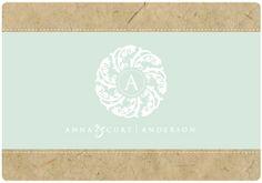 PreDesigned Custom Wedding Logo ANNA & CURT by StarlingMemory3, $40.00