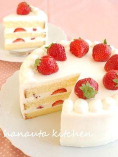 ぜいたく苺の♪ミルキーショートケーキ by flan* [クックパッド] 簡単 ...