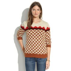 Madewell sweaters are 25% off right now. I love this funky take on Chevron one!