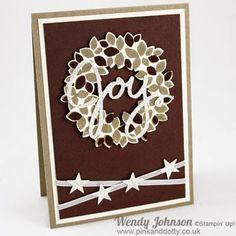Stampin Up, Wondrous Wreath, Wonderful Framelits