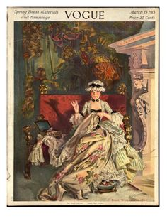 Vogue Cover - March 1913 Giclee Print by Frank X. Leyendecker at Art.com