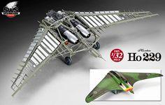 SWS 1/32 scale Ho 229 ホルテン (日本-造型村 德國  霍頓 HORTEN HO 229 噴射戰鬥轟炸機)