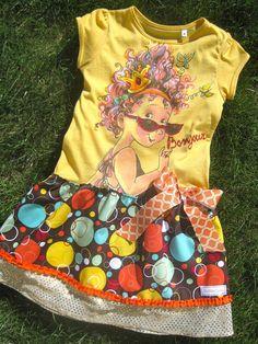 Fancy Nancy Upcycle Shirt Dress Glitter Girls by MadiBethCreations, $33.50