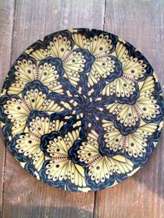 John Derian 'Blue Butterfly' Decoupage Platter