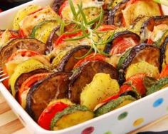 A simple and delicious vegetable casserole / Health Alphabet Vegetable Side Dishes, Vegetable Recipes, Vegetarian Recipes, Cooking Recipes, Healthy Recipes, Fall Casseroles, Vegetable Casserole, Baked Vegetables, Summer Dishes