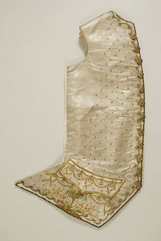 Ensemble (image 10 - waistcoat)   French   1765   silk, metal   Metropolitan Museum of Art   Accession Number: 1994.405.1a–f