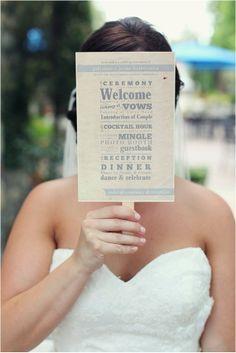 DIY Wedding Programs | DIY Wedding Fan Program - | For Chelsea!!!!