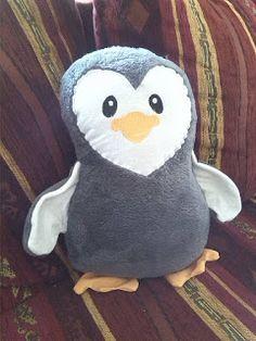 Basteldeern:   Pinguin    Eigenes Schnittmuster und Stickdatei ...