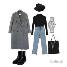 Ulzzang Fashion, Asian Fashion, Vogue Fashion, Look Fashion, Winter Fashion Outfits, Stylish Outfits, Hijab Fashion Inspiration, Mode Chic, Outfit Combinations