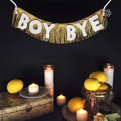 BOY BYE (Beyoncé) Glittering Fringe Banner by FUN CULT | If he's not going to make the lemonade with you, he can't drink it. In the shop!