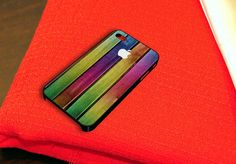 Colorful Chameleon Wood Texture iPhone 4 iPhone 4S Case by caseboy, $15.79