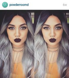 Beautiful Black to grey ombrè!