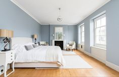 #blue bedroom #white bedroom scandi bedroom #sypialnia skandynawska